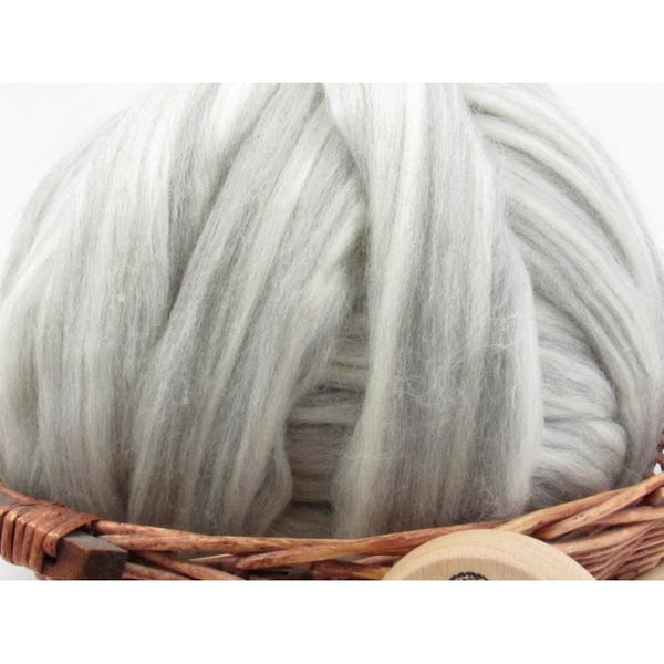 Mixed Merino Wool Top Roving - Undyed Natural Spinning Fiber / 1oz