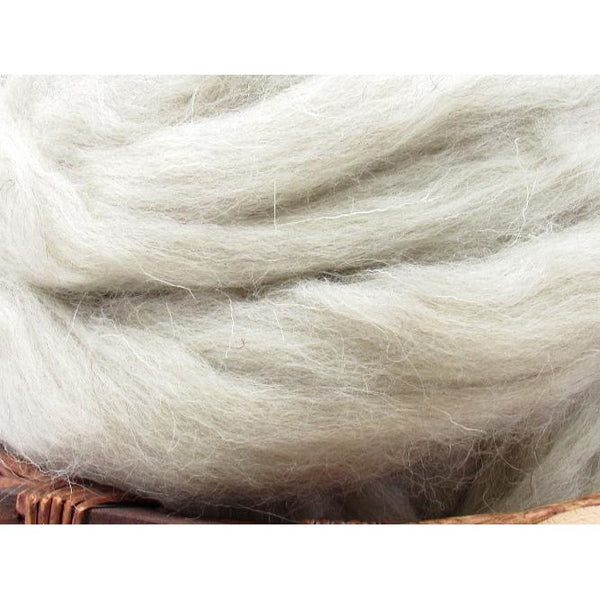 Light Grey Welsh Wool Top - 1oz
