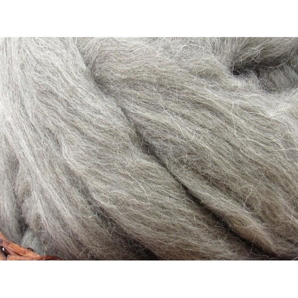 Grey Cheviot Wool Top - 1oz