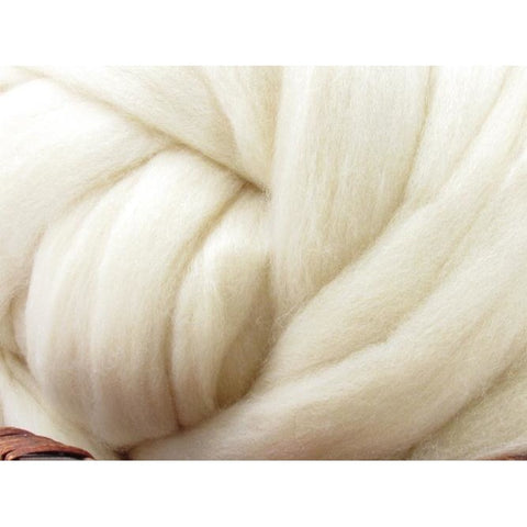 Ile De France Wool Top Roving - Undyed Natural Spinning Fiber / 1oz