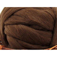 Dark Brown Merino D' Arles Wool Top - 1oz