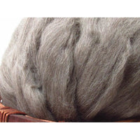 Grey Teeswater Wool Top - 1oz