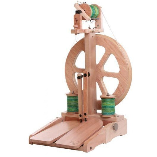 Ashford Kiwi-3 Spinning Wheel Folding Treadle / Natural Finish - FREE Shipping