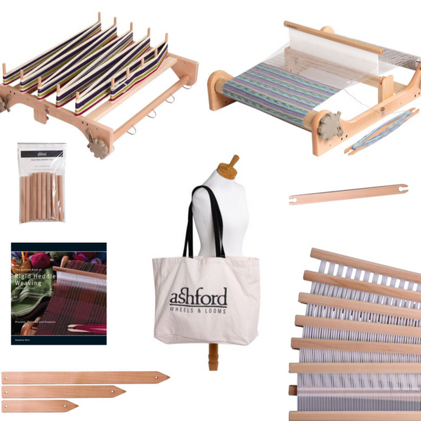 "Ashford 16"" Rigid Heddle Loom Bundle w/ Wavy Shuttle / FREE S&H"