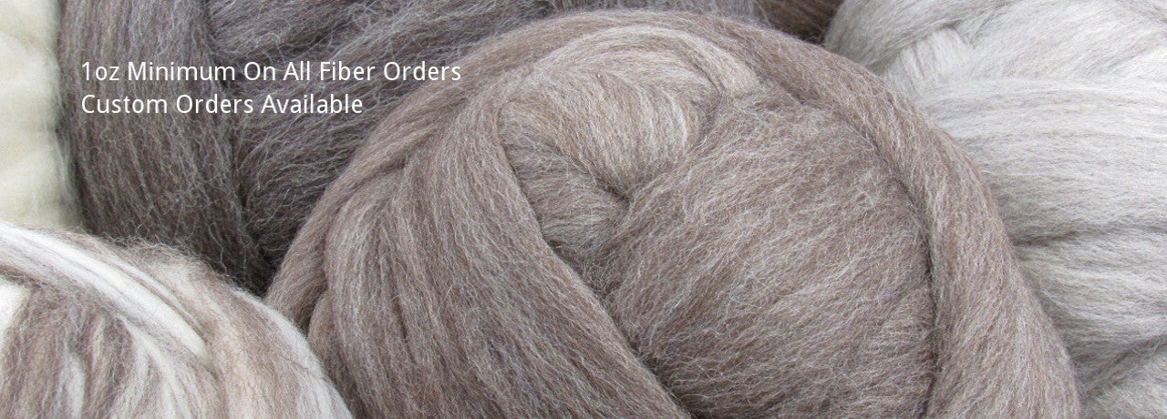 Spinning fiber wool silk undyed dyed natural