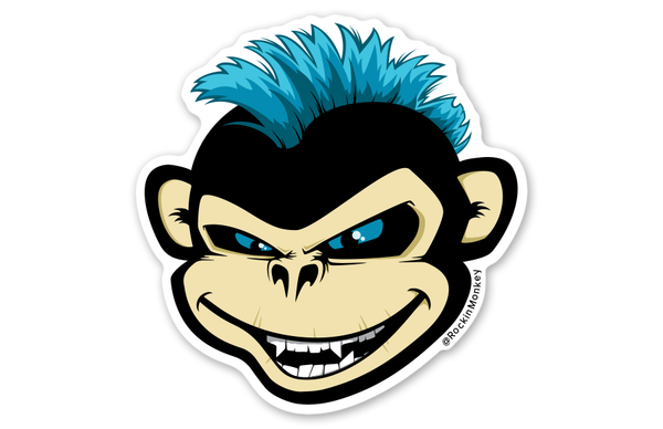 The Original Bixby™ Sticker by Rockin Monkey of San Antonio