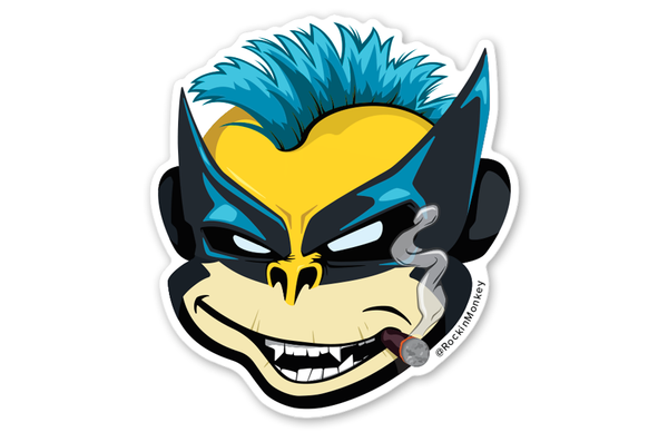 Wolverine Bixby™ Sticker by Rockin Monkey of San Antonio