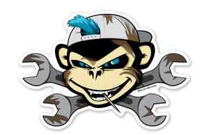 Wrench Monkey Bixby™ Sticker by Rockin Monkey of San Antonio