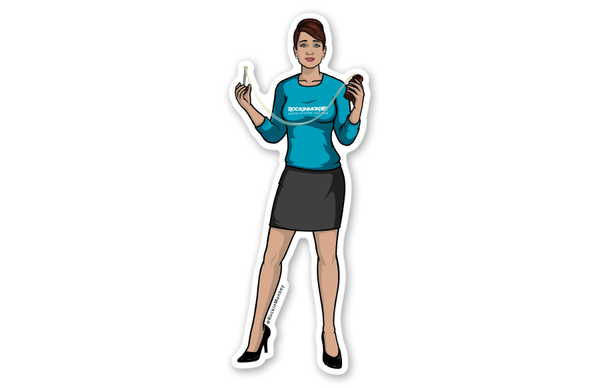 Cheryl Tunt Eating Glue Sticker