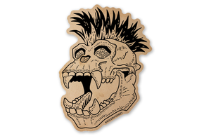 Chimpanzee Skull Sticker