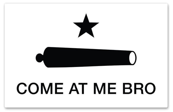 Come At Me Bro Sticker by Rockin Monkey Design & Print House of San Antonio