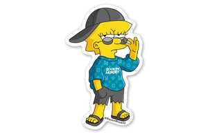 Too Cool Lisa Simpson Sticker