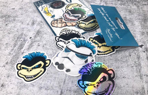 Sample Sticker Pack by Rockin Monkey of San Antonio