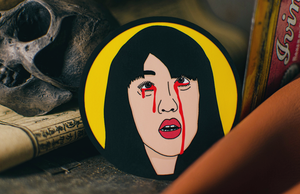 Custom Printed Round Stickers Featuring Gogo from Kill Bill Printed by Rockin Monkey of San Antonio