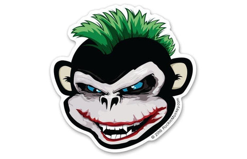 Heath ledger joker bixby custom stickers printed by rockin monkey designs of san antonio