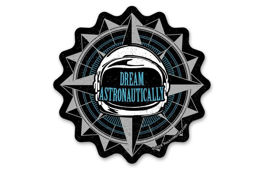 Dream astronautically space helmet custom stickers printed by rockin monkey designs jpgv1500778213