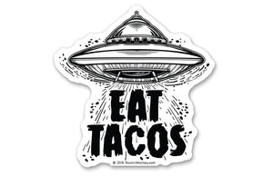 Taco from Outer Space Sticker by Rockin Monkey Design & Print House of San Antonio