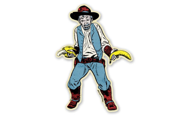 Ol' Phil the Banana Gunslinger Sticker