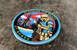 ST-80850 Stormtrooper Garrison Round Stickers Printed by Rockin Monkey of San Antonio