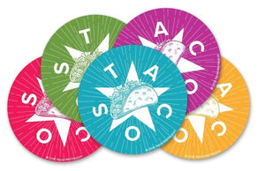 Fiesta Taco Sticker 5 Pack by Rockin Monkey Design & Print House of San Antonio