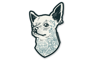 Tattooed Chihuahua Sticker