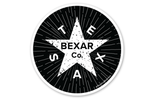 Worn Bexar County Texas Sticker