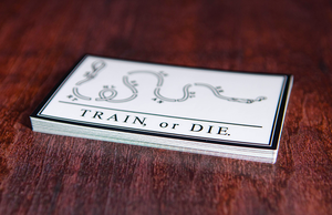 Worthless Handler Train or Die Printed Rectangular Stickers by Rockin Monkey of San Antonio