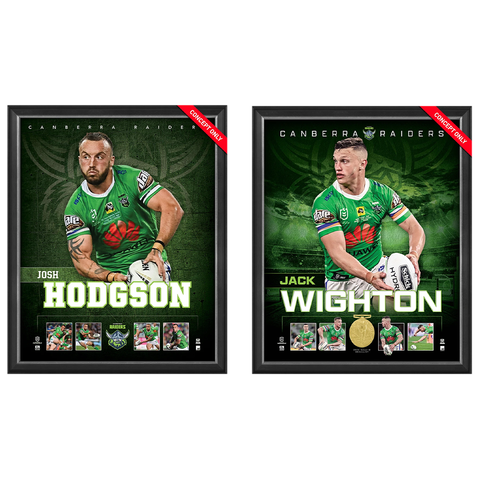 Canberra Raiders Package Official Licensed Nrl Prints Framed Hodgson Wighton - 4595