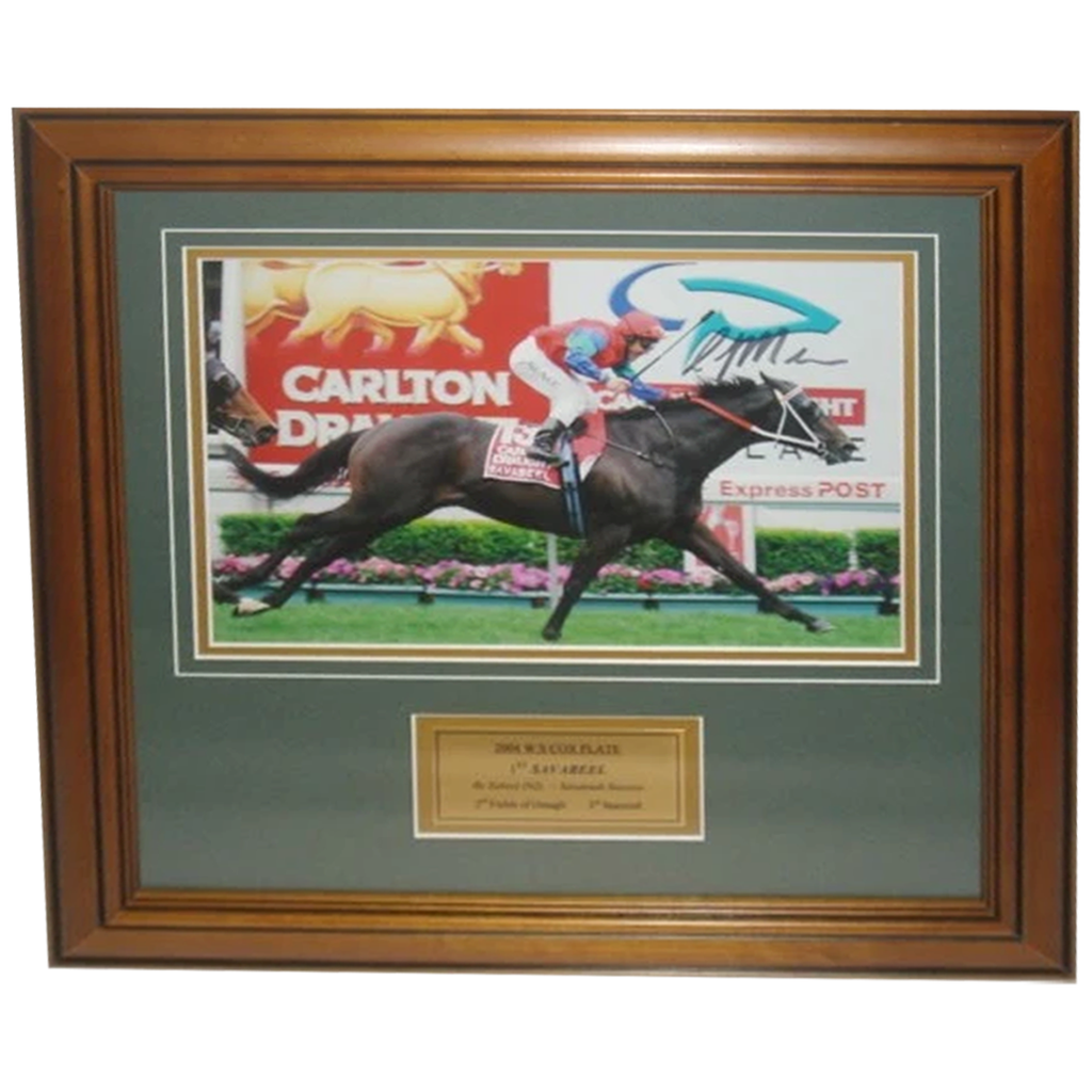 2004 W.s. Cox Plate Winner Savabeel Signed Photo Framed - 2817