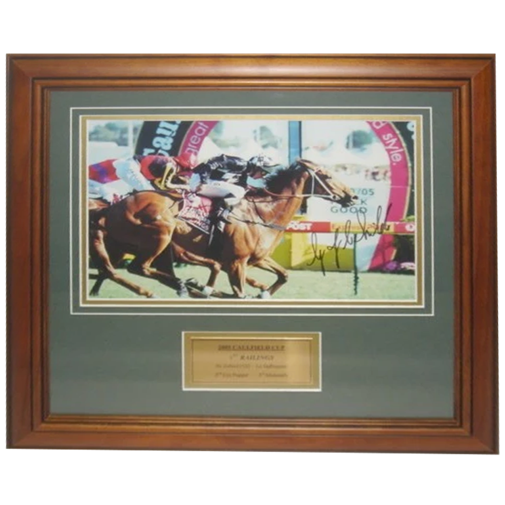 2005 Caulfield Cup Winner Railings Signed by Jockey Greg Childs - 2700