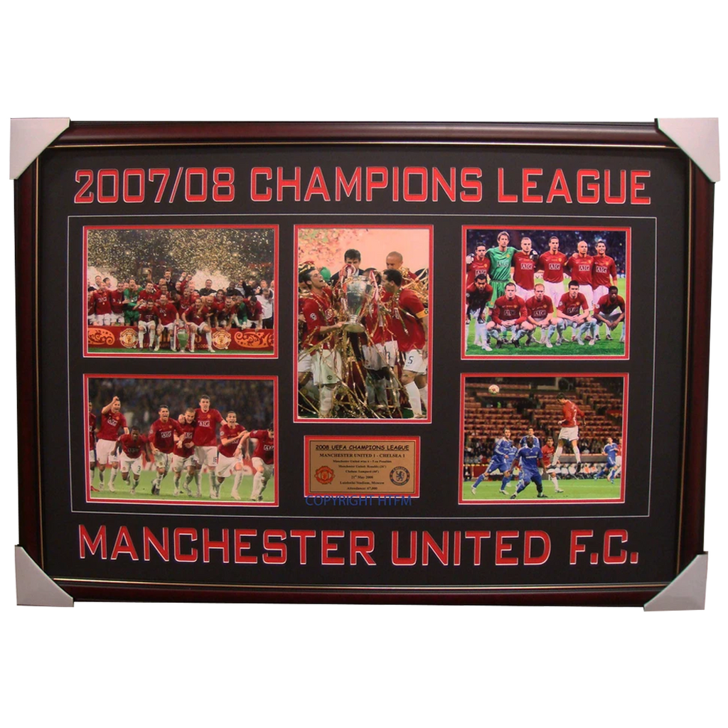2007/08 Manchester United Champions League Winners Photos Framed - 1687