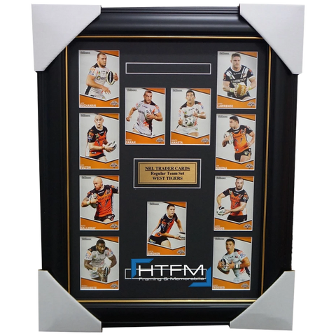 2014 West Tigers Nrl Traders Rugby League Complete Common Card Set Framed - 1772
