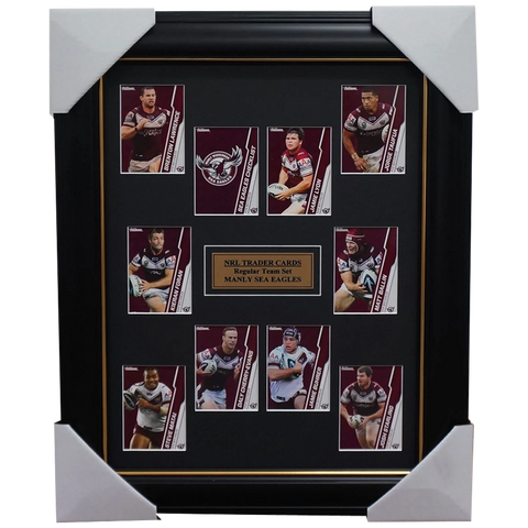 2015 Nrl Card Team Set Manly Sea Eagles Framed Jamie Lyon Daly Cherry-evans - 1034