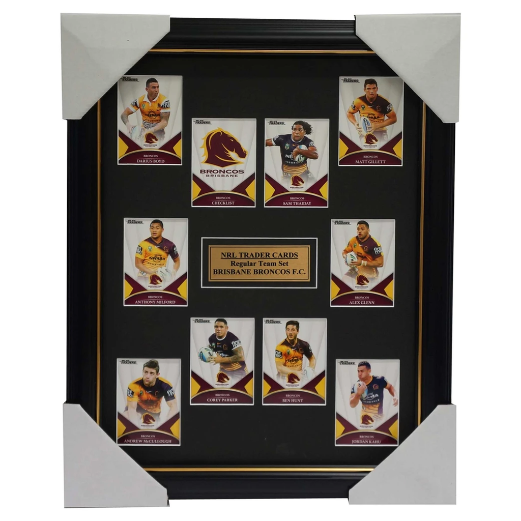 2016 NRL Traders Cards Brisbane Broncos Team Set Framed Sam Thaiday Corey Parker - 2686