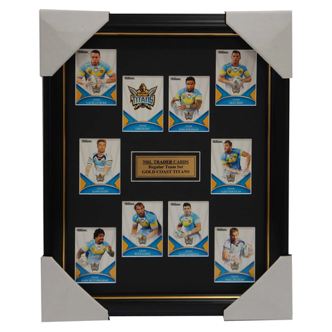 2016 NRL Traders Cards Gold Coast Titans Team Set Framed Hoffman Roberts Bird - 2703
