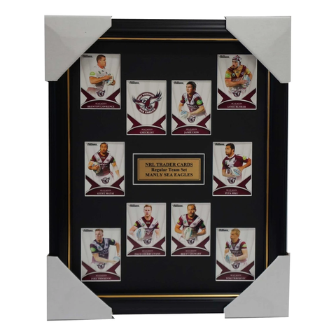 2016 Nrl Traders Cards Manly Sea Eagles Team Set Framed Jamie Lyon Brett Stewart - 2691