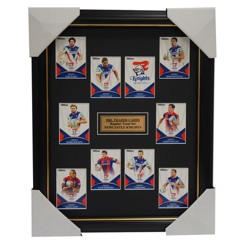 2016 NRL Traders Cards Newcastle Knights Team Set Framed Gagai Mamo Uate - 2702