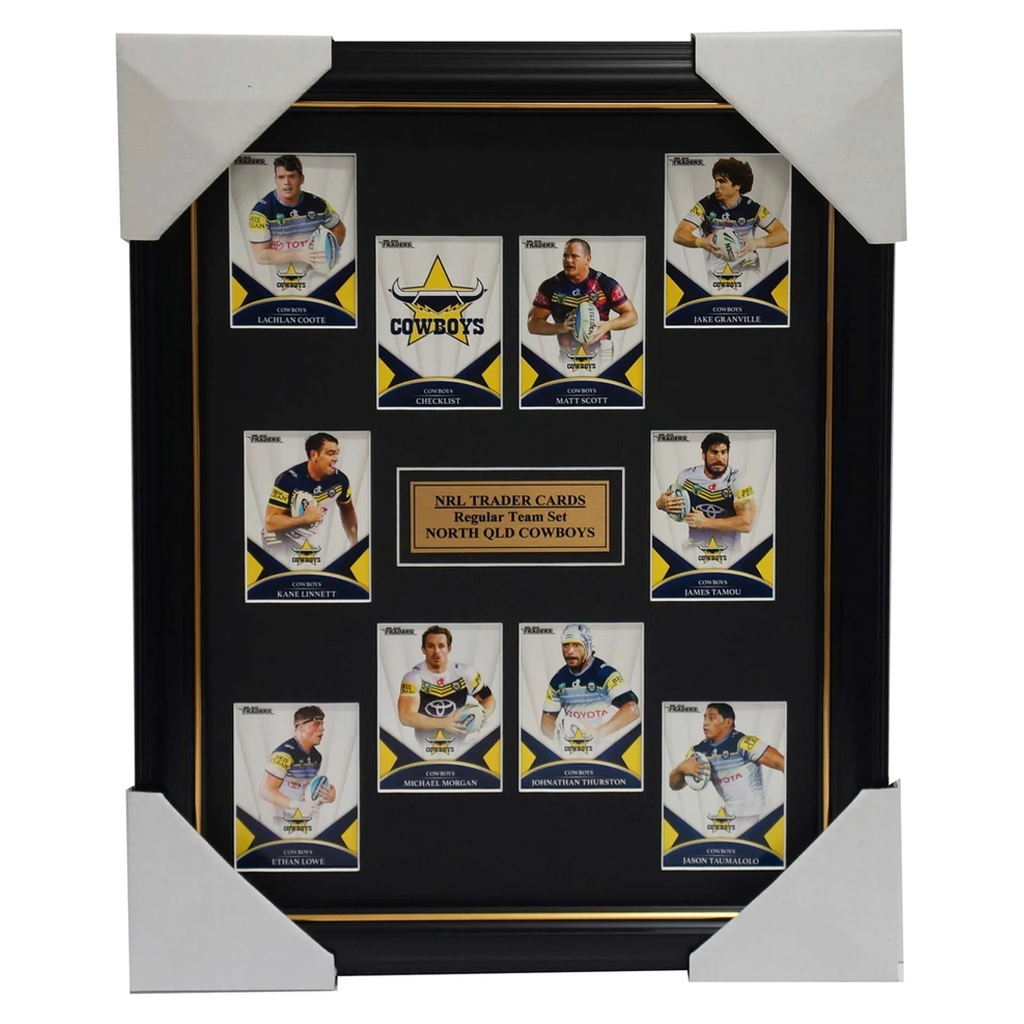 2016 Nrl Traders Cards North Queensland Cowboys Team Set Framed Thurston Scott - 2688