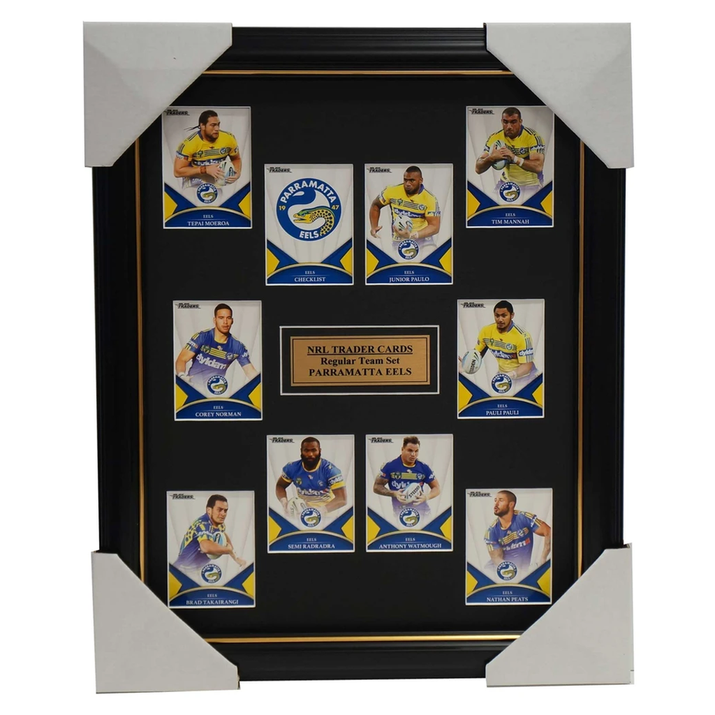 2016 NRL Traders Cards Parramatta Eels Team Set Framed Watmough Radradra Mannah - 2695