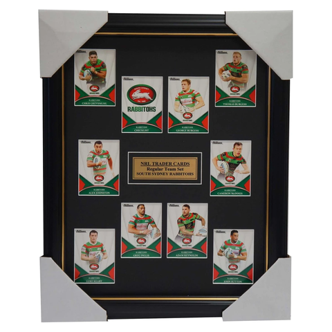 2016 NRL Traders Cards South Sydney Rabbitohs Team Set Framed Inglis Burgess - 2687