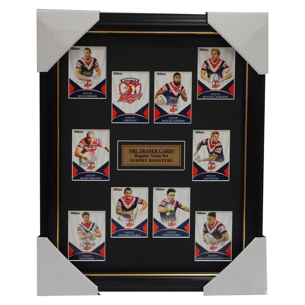 2016 Nrl Traders Cards Sydney Roosters Team Set Framed Jennings, Cordner Napa - 2692