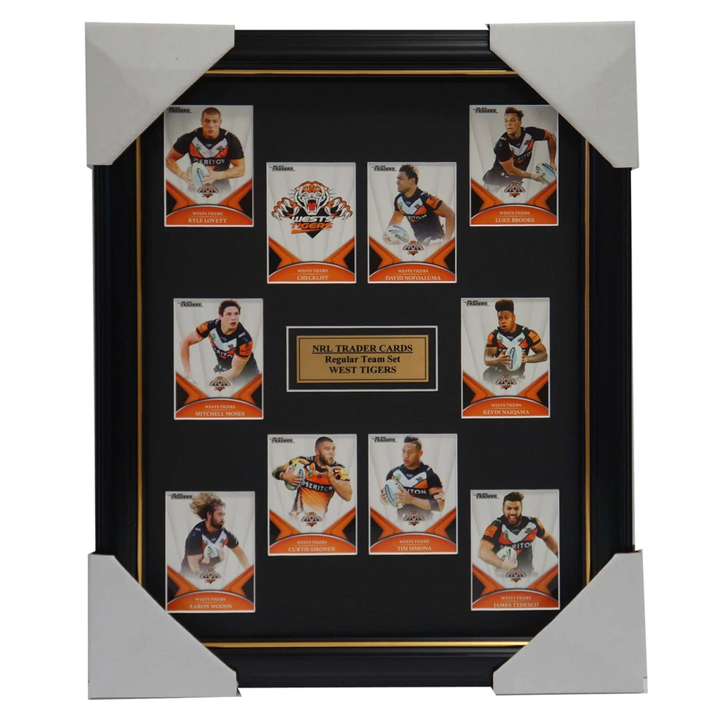 2016 Nrl Traders Cards West Tigers Team Set Framed - 2697