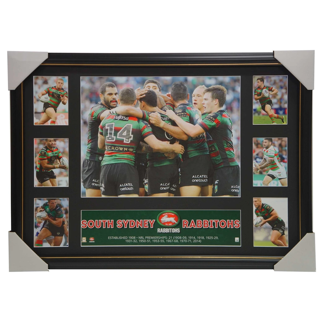 2016 South Sydney Rabbitohs Official NRL Super Frame Collage Inglis Burgess - 2891