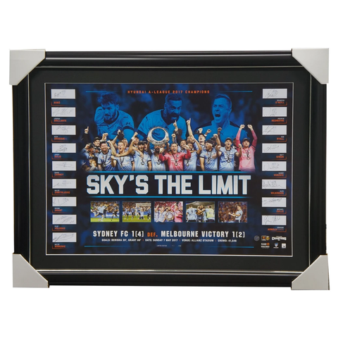 2017 A-League Champions Sydney F.C. Official Team Lithograph Framed - 3113