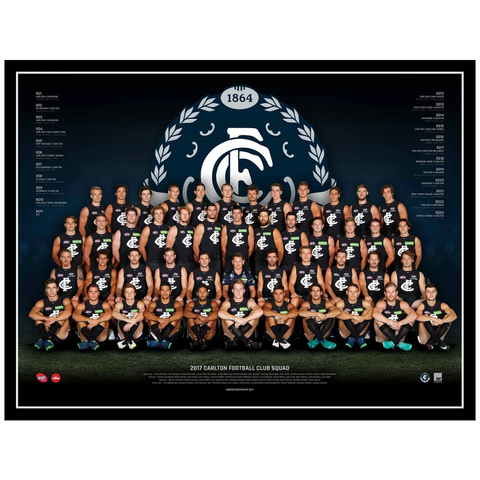 2017 Afl Official Carlton Blues Team Print Framed Marc Murphy Patrick Cripps - 3085