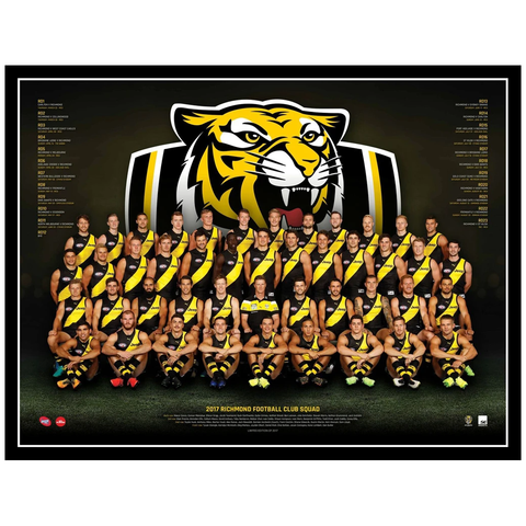 2017 Afl Official Richmond Team Print Framed - Cotchin Martin Riewoldt Prestia - 3077