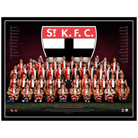 2017 Afl Official St Kilda Saints Team Print Framed - Riewoldt Armitage Stevens - 3083