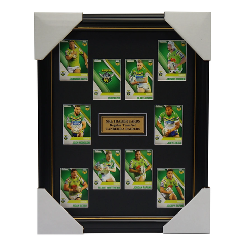 2017 NRL Traders Cards Canberra Raiders Team Set Framed Hodgson Croker Rapana - 3098