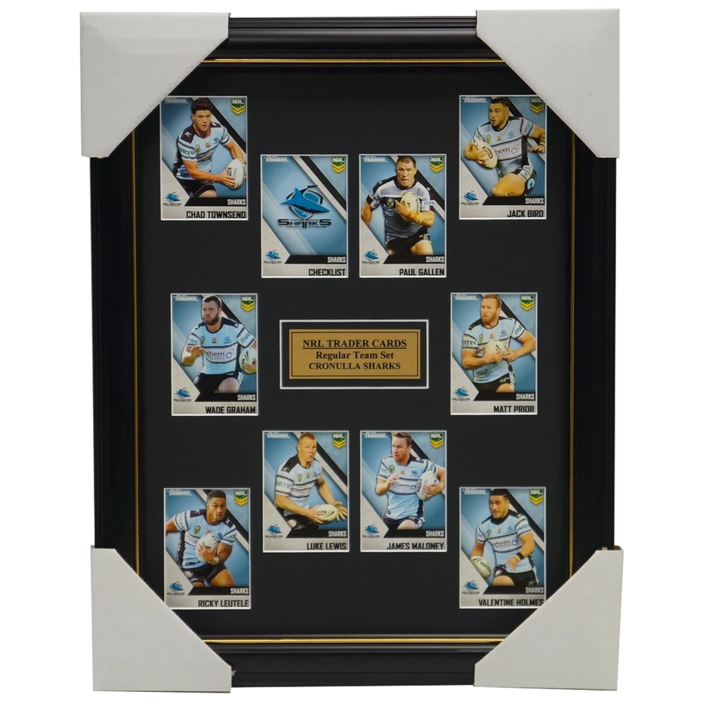 2017 NRL Traders Cards Cronulla Sharks Team Set Framed Paul Gallen Maloney Bird - 3067