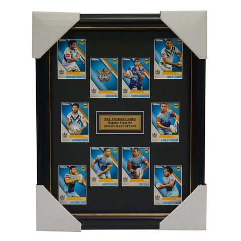 2017 Nrl Traders Cards Gold Coast Titans Team Set Framed Jarryd Hayne James - 3093